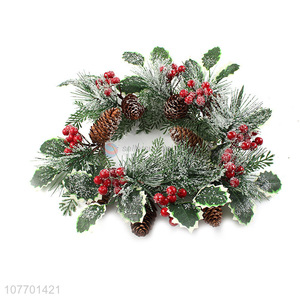 Good quality pine needle Christmas wreath for front door decoration
