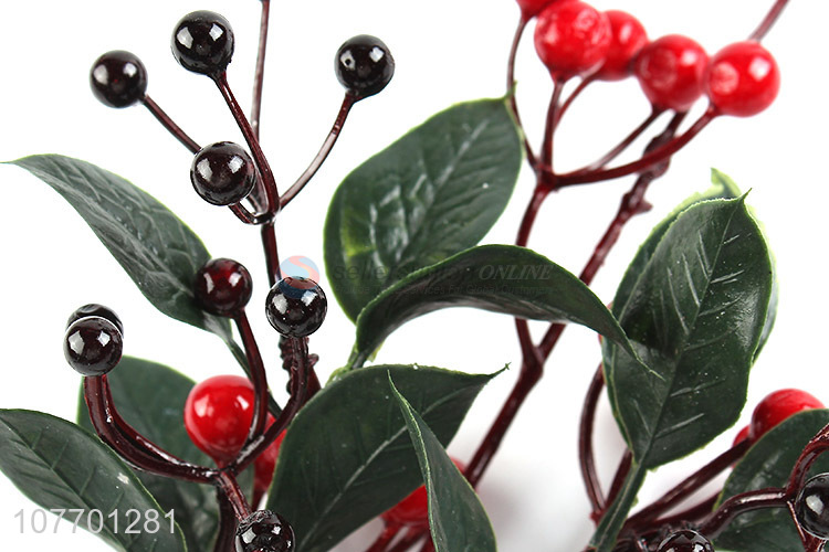 Promotional festive decorative Christmas tree branch with red berries