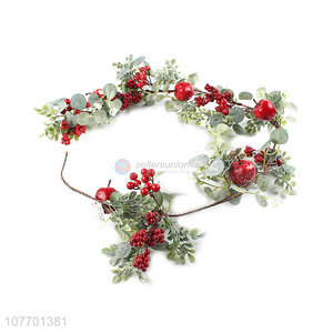 Promotional Christmas ornaments long artificial vine with fruit