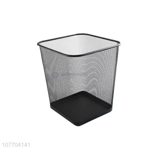 Factory price medium metal mesh garbage bin iron trash bin