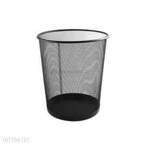 High quality large metal mesh dustbin iron garbage can