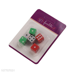 Factory direct color plastic dice KTV/bar game rounded dice
