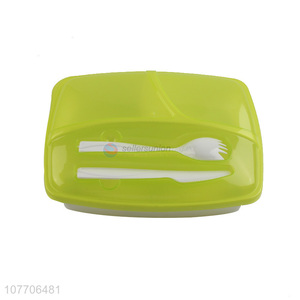 Creative design plastic lunch box compartment insurance lunch box