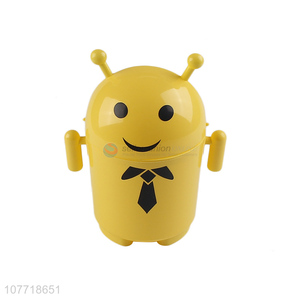 New arrival cute design yellow mini trash bin can
