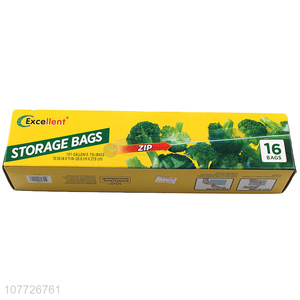 Low price high quality zipper seal storage bags for food