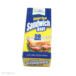 Good selling zipper seal sandwich bags with cheap price