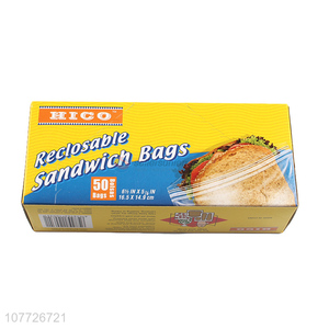 New product cheap reclosable storage bags for sandwich