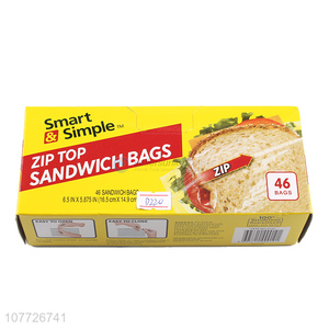 Best selling good quality reclosable sandwich bag