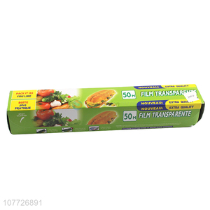 Brand new soft plastic cling film food wrap