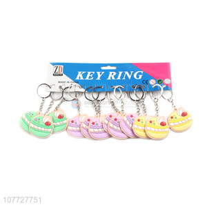 Recent products soft hamburger key chain pvc key chain bag pendant
