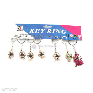 Top seller 3d pvc monkey key chain animal key ring cute bag pendant