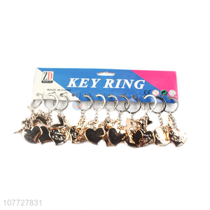 New arrival gold pvc heart key chain heart keychains promotional gift