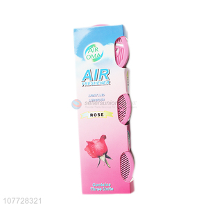 Factory wholesale toilet low pot rose flower fragrance air freshener deodorant set