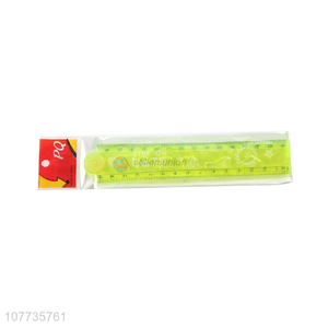 Factory price plastic straight ruler plastic drawing ruler for kids