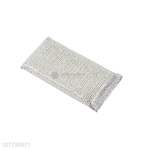Wholesale household cleaning cloth kitchen silver screen scouring pad