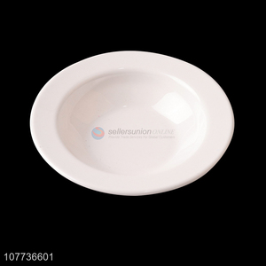 Melamine Soup Plate Plastic Dinner Plate Soup Plate Round Household Dish Plate