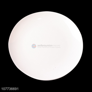 Low price melamine disc white hotel fast food plate bone dish