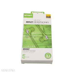 Wholesale Apple Green Universal Earphone for Android Phone
