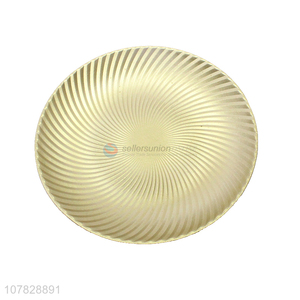 High quality round gold serving plate charger plate for home decoration