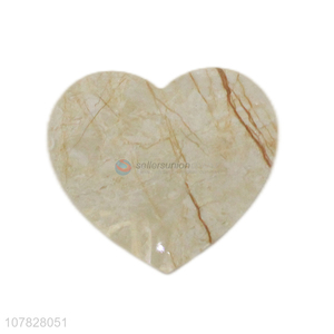 China factory heart shape marble pattern uv board cup coasters