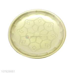 New product round gold serving plates hotel restaurant snacks plate