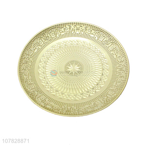 Hot sale tableware round gold serving plates serving dishes
