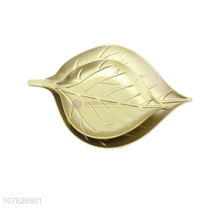 China supplier gold leaf serveware creative simple home ornaments