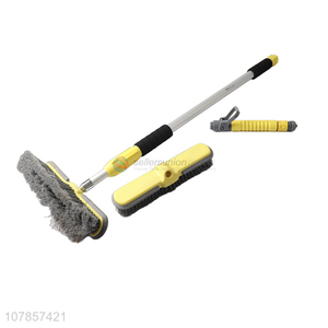 Most popular 2 in 1 aluminium alloy water fed pole brush telescopic tyre brush