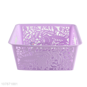 Hot sale fashion multi-function hollow out plastic storage box for toys