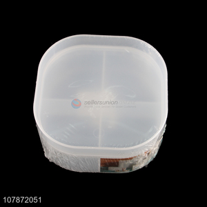 Wholesale portable 4 compartments travel pill case medicine box tablet box