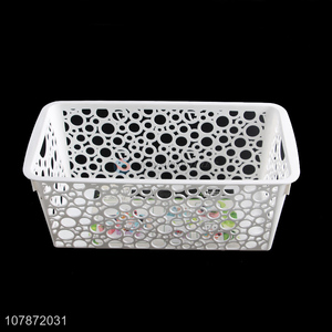 Wholesale creative hollowed out plastic storage basket storage bin