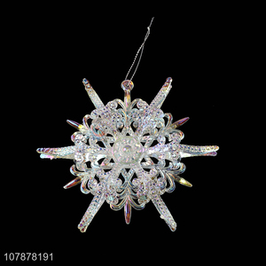 High quality snowflakes shape christmas hanging ornaments