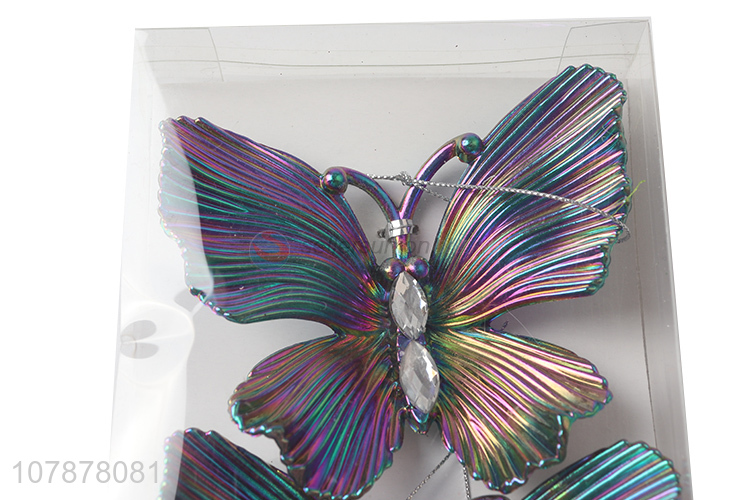 New product colourful butterfly shape christmas hanging ornaments