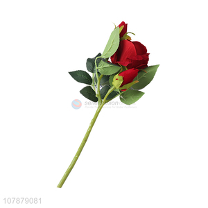 High quality red rose artificial flowers for decoration