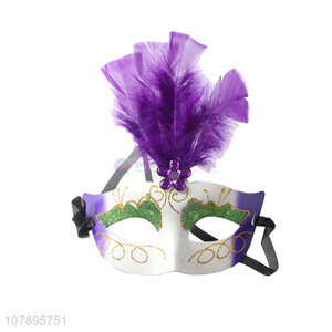 China wholesale women half face party mask masquerade mask