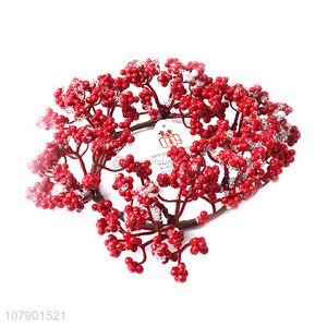 Hot sale red artificial berry christmas wreath for party