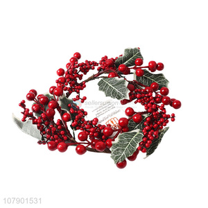 Factory price decorative christmas style berry wreath for sale