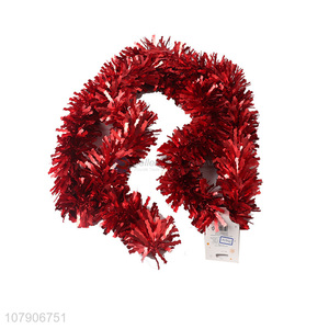 Good wholesale price red color strip garland decoration ribbon