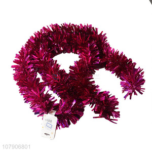 Low price wholesale rose red garland holiday ornaments