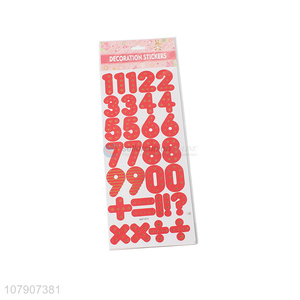 Lastest arrival red number plane sticker toy for children